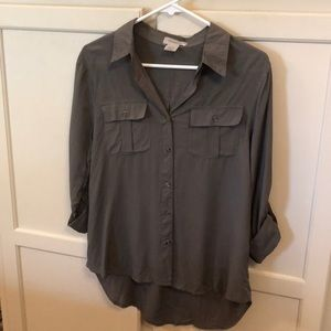 NWT Passport Long-sleeve Blouse Olive Green Size M